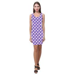 Clouds with Polka Dots on Purple Medea Vest Dress (Model D06)