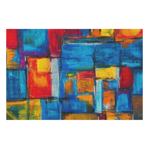 Abstract Art - Fine Art - Painting, Wearable Art 1000-Piece Wooden Photo Puzzles
