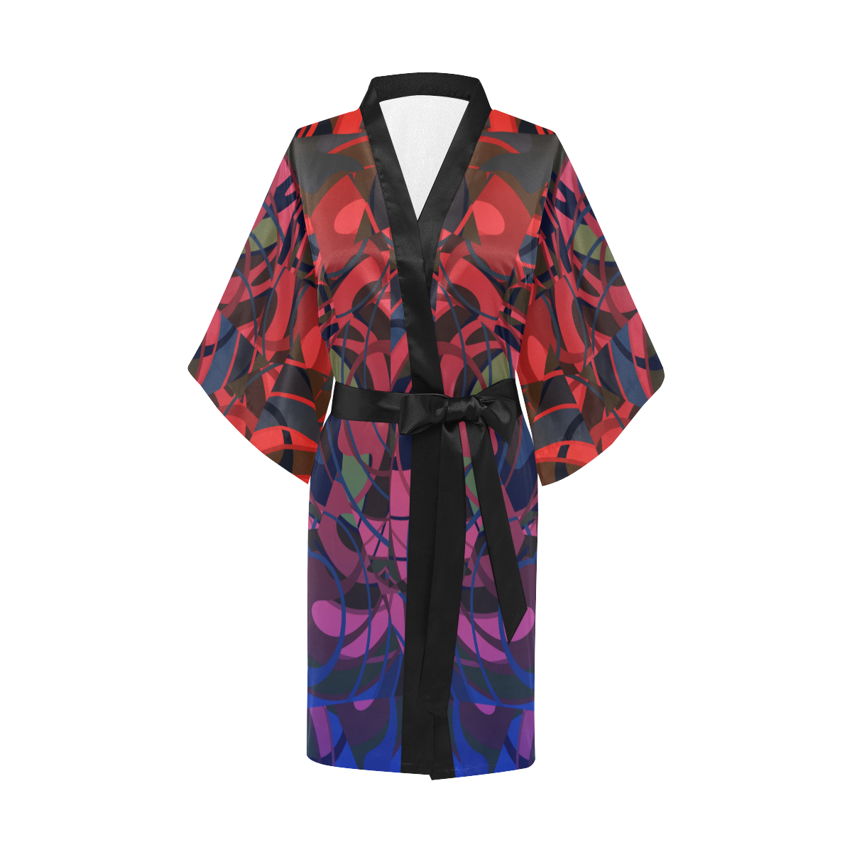 Hot Summer Nights Blue and Red Kimono Robe