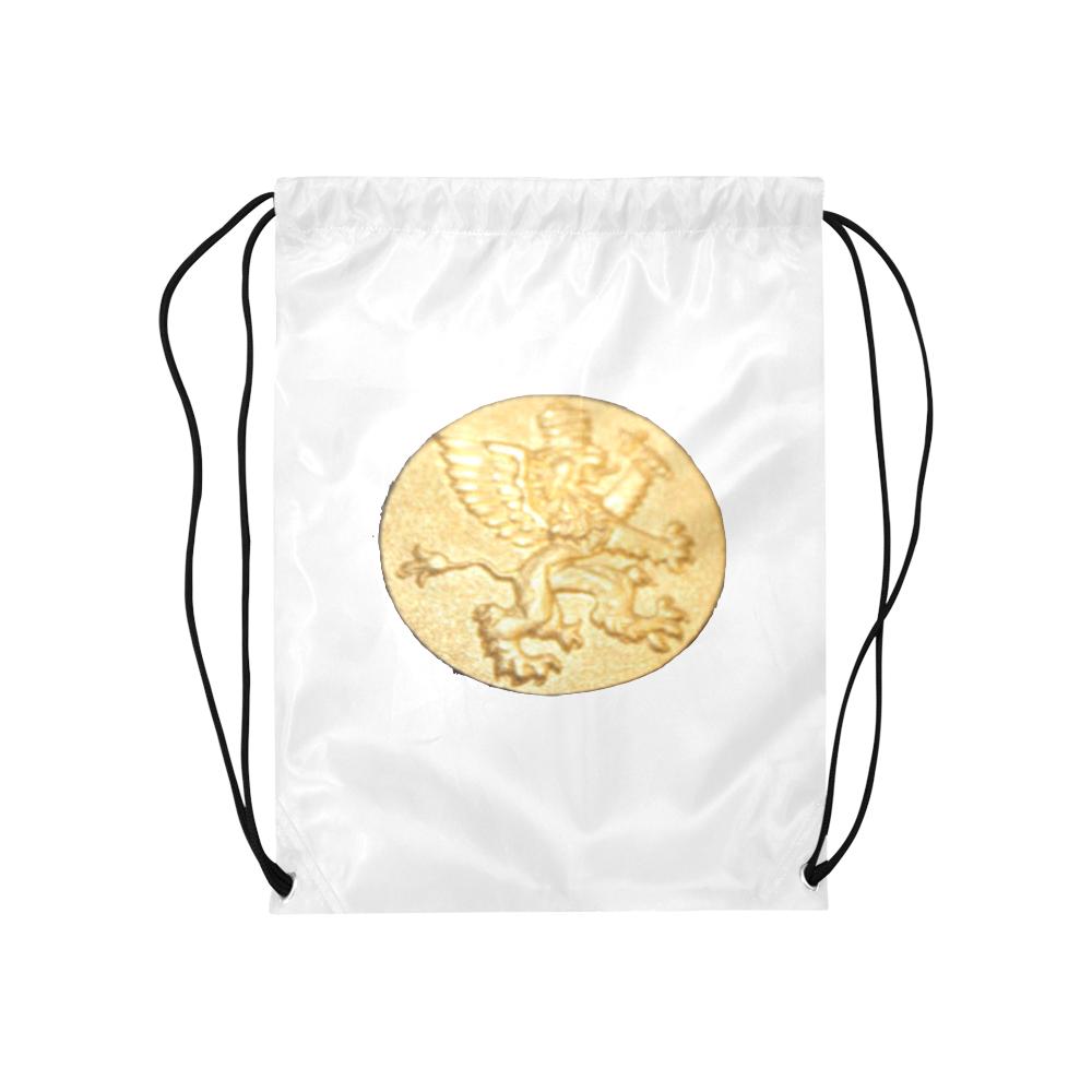 "Intanjibles (alt) Logo Medium Drawstring Bag Model 1604 (Twin Sides) 13.8""(W) * 18.1""(H)"