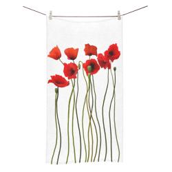"Poppies Floral Design Papaver somniferum Bath Towel 30""x56"""