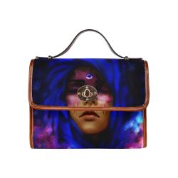 Cosmick Warrior Waterproof Canvas Bag/All Over Print (Model 1641)