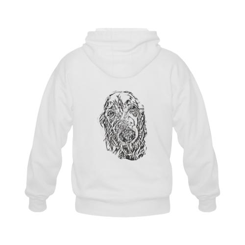 Jazz dog love digital art Gildan Full Zip Hooded Sweatshirt (Model H02)