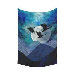 """Night In The Mountains Cotton Linen Wall Tapestry 60""""x 90"""""""