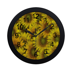 Surreal Sunflowers Circular Plastic Wall clock