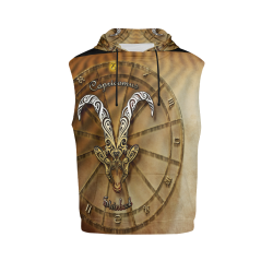 capricorn woods All Over Print Sleeveless Hoodie for Men (Model H15)