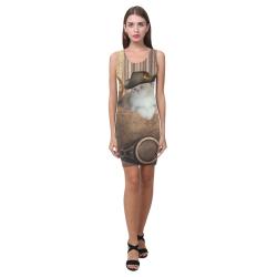Funny steampunk cat Medea Vest Dress (Model D06)