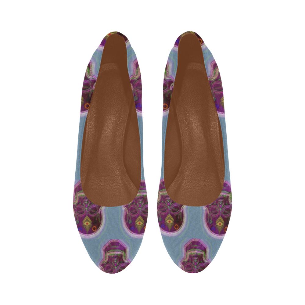 Deadman blue heels Women's High Heels (Model 044)