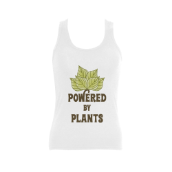 Powered by Plants (vegan) Women's Shoulder-Free Tank Top (Model T35)