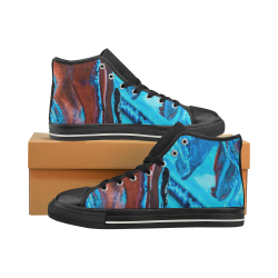 Cool Abstract Art Men's Shoes Men's Classic High Top Canvas Shoes (Model 017)