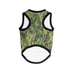 Military Camo Green Woodland Camouflage All Over Print Pet Tank Top