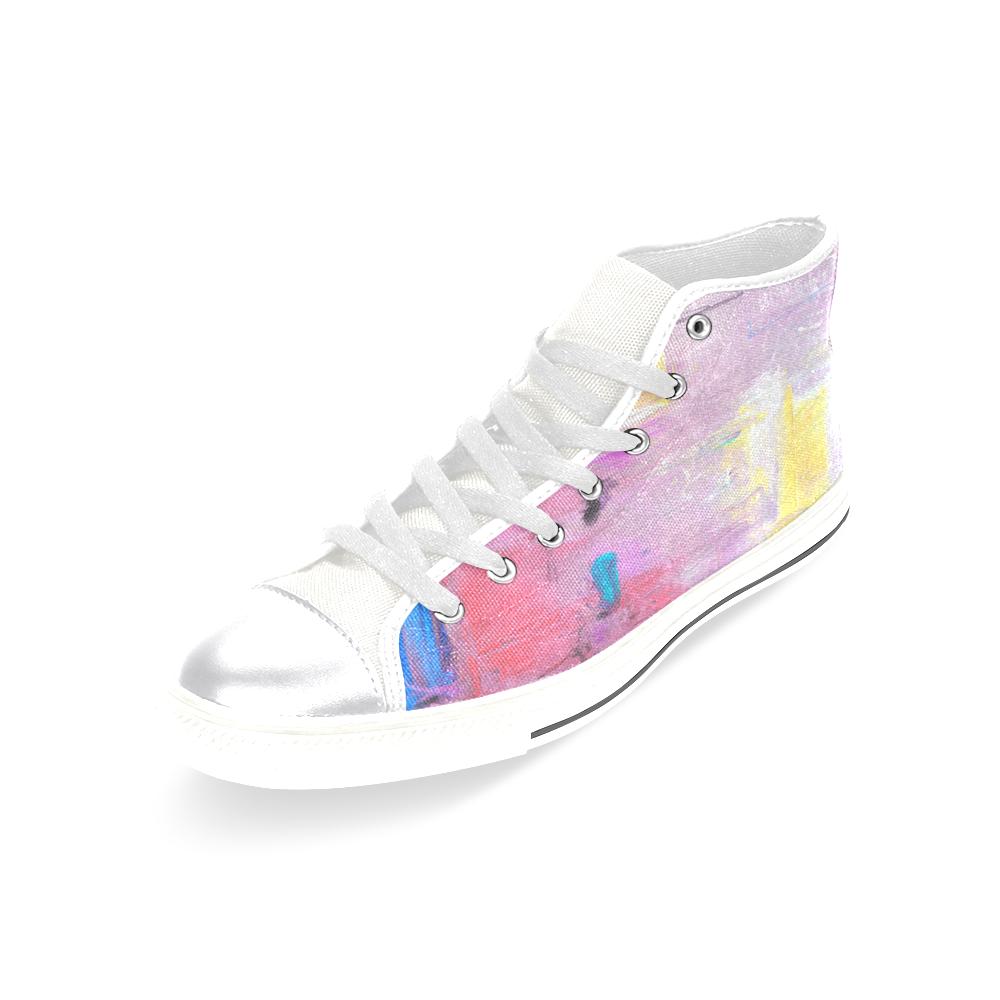 Little`purple Women's Classic High Top Canvas Shoes (Model 017)