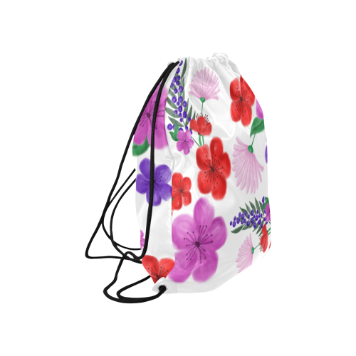 """BUNCH OF FLOWERS Large Drawstring Bag Model 1604 (Twin Sides)  16.5""""(W) * 19.3""""(H)"""