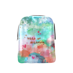 KEEP ON DREAMING - rainbow Popular Backpack (Model 1622)