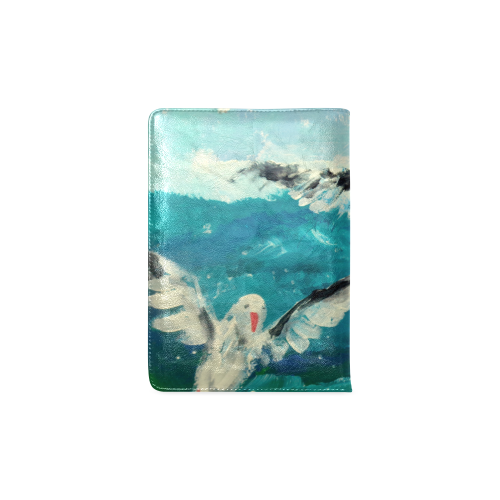 seagull ocean seascape art painting by agnes laczo Custom NoteBook A5