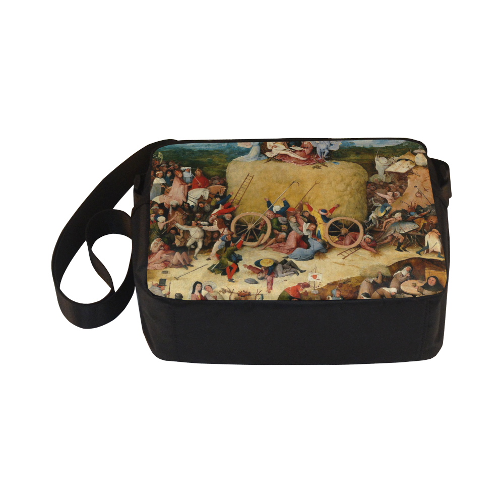 Hieronymus Bosch-The Haywain Triptych 2 Classic Cross-body Nylon Bags (Model 1632)