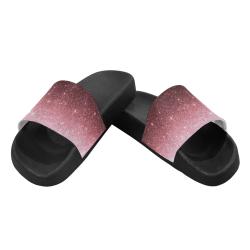 rose gold Glitter gradient Women's Slide Sandals (Model 057)