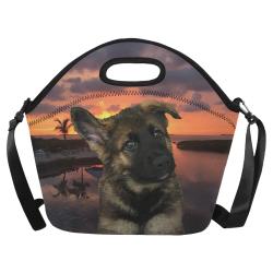 Loki Dog German Shepherd Neoprene Lunch Bag/Large (Model 1669)