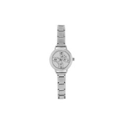 Roman Numeral Whtie Faced Women's Italian Charm Watch(Model 107)