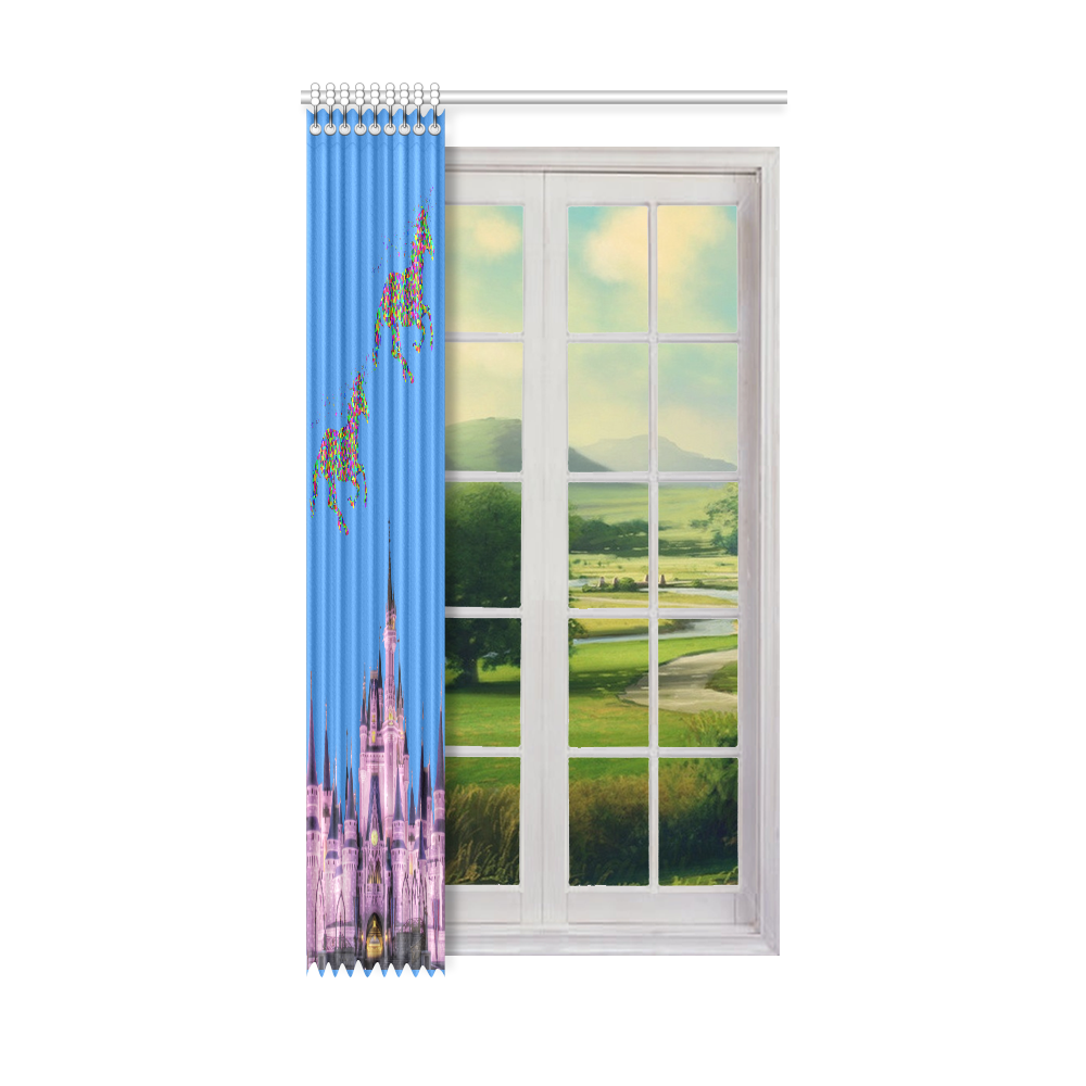 "Unicorn Kingdom Bedroom Curtain Window Curtain 52"" x96""(One Piece)"