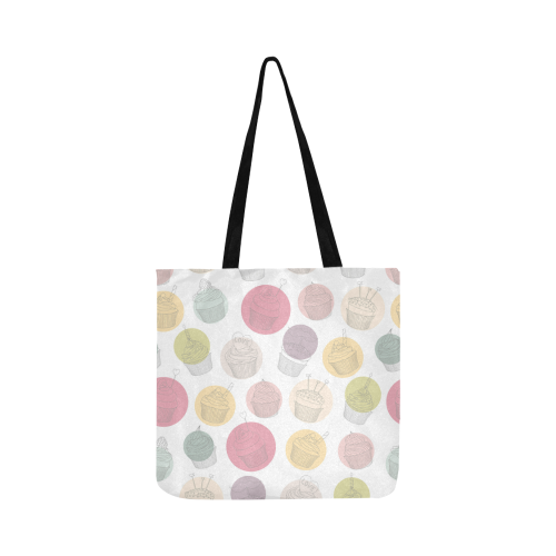 Colorful Cupcakes Reusable Shopping Bag Model 1660 (Two sides)