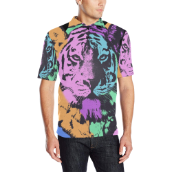ART TIGER LUXURY POLO Men's All Over Print Polo Shirt (Model T55)