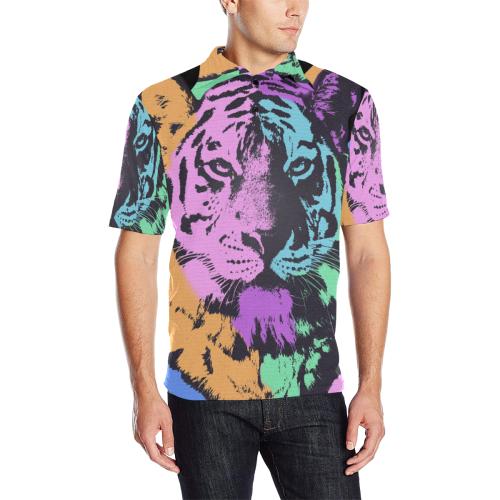 ART TIGER LUXURY POLO Men's All Over Print Polo Shirt (Model T55)
