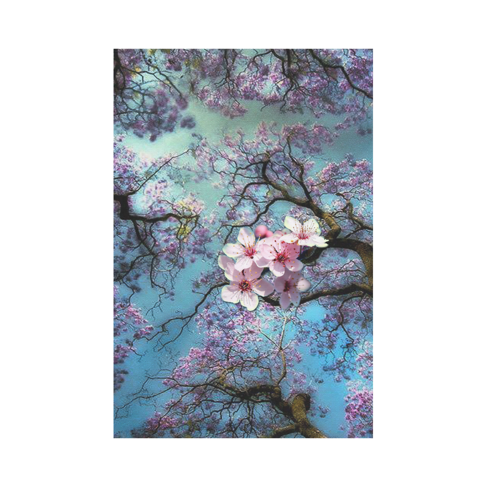 Cherry blossomL Garden Flag 12''x18''(Without Flagpole)