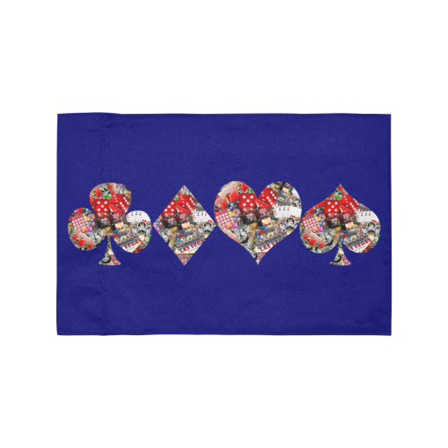 Las Vegas Playing Card Shapes / Blue Motorcycle Flag (Twin Sides)