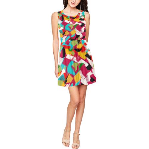 gaya1 Thea Sleeveless Skater Dress(Model D19)