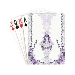 """floral-white and purple Playing Cards 2.5""""x3.5"""""""