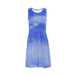 Blue Clouds Sleeveless Ice Skater Dress (D19)