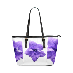 Balloon Flower Leather Tote Bag/Small (Model 1640)
