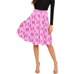 Rose petals Melete Pleated Midi Skirt (Model D15)
