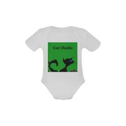 Cat Dadio Baby Powder Organic Short Sleeve One Piece (Model T28)