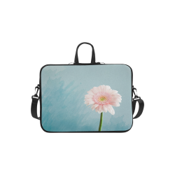 Gerbera Daisy - Pink Flower on Watercolor Blue Macbook Air 11''