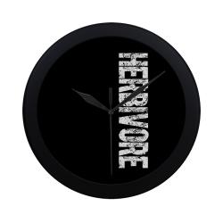 Herbivore (vegan) Circular Plastic Wall clock