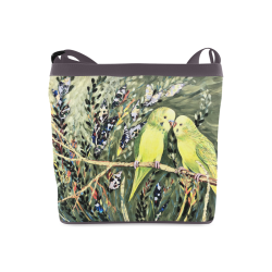 Budgies Parakeet Shoulder Bag Crossbody Bags (Model 1613)