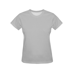 Silver Sand Grey All Over Print T-Shirt for Women (USA Size) (Model T40)