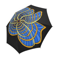 Gridded-Flower001c Semi-Automatic Foldable Umbrella (Model U05)