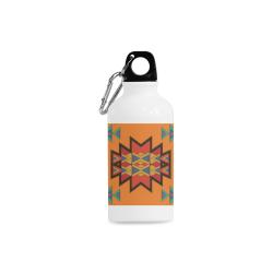Misc shapes on an orange background Cazorla Sports Bottle(13.5OZ)