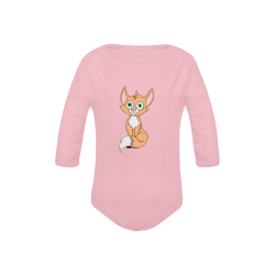 Foxy Roxy Pink Baby Powder Organic Long Sleeve One Piece (Model T27)