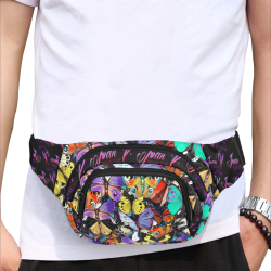 Live intensely, by Ivan Venerucci Italian Style Fanny Pack/Small (Model 1677)
