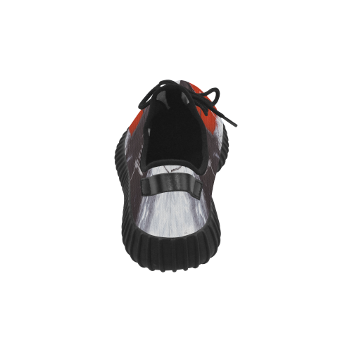 Black & red Grus Women's Breathable Woven Running Shoes (Model 022)