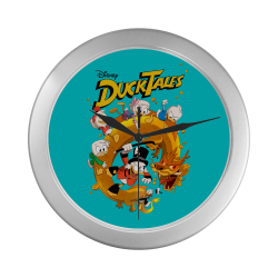 DuckTales Silver Color Wall Clock