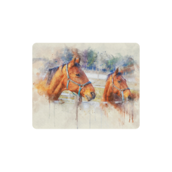 horses Rectangle Mousepad