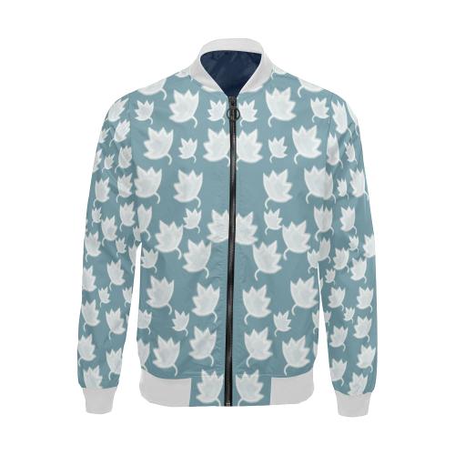 leaves on color ornate All Over Print Bomber Jacket for Men (Model H19)