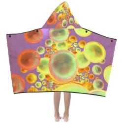 Bubbles bright colors Kids' Hooded Bath Towels