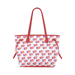 Puerto Rican Flag Clover Canvas Tote Bag (Model 1661)