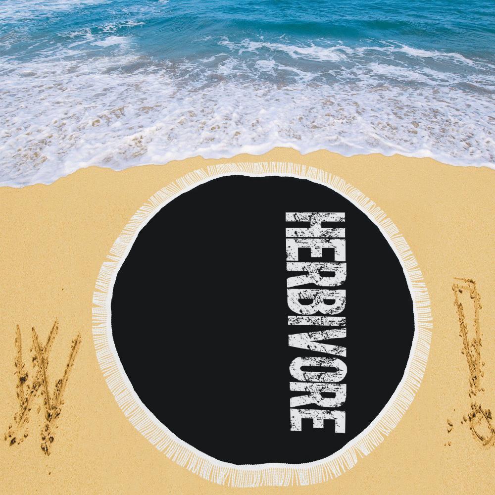 "Herbivore (vegan) Circular Beach Shawl 59""x 59"""